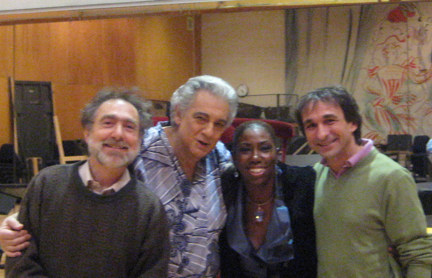 Backstage at the Met with Placido Domingo, Maestro Marco Armiliato, and Jonathan Khuner