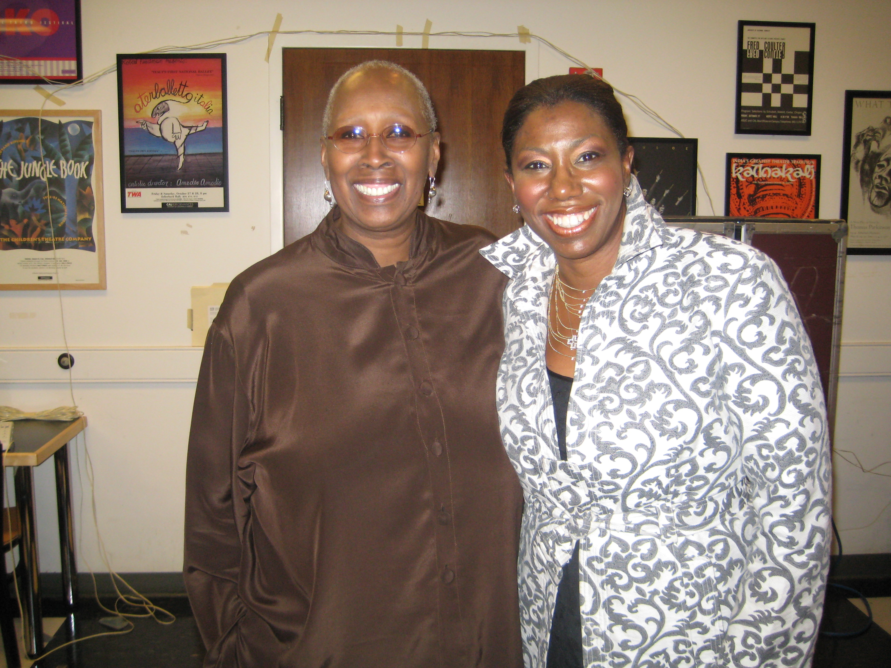 Judith Jamison backstage after Alvin Ailey Dance Theater performance at Cal Performances