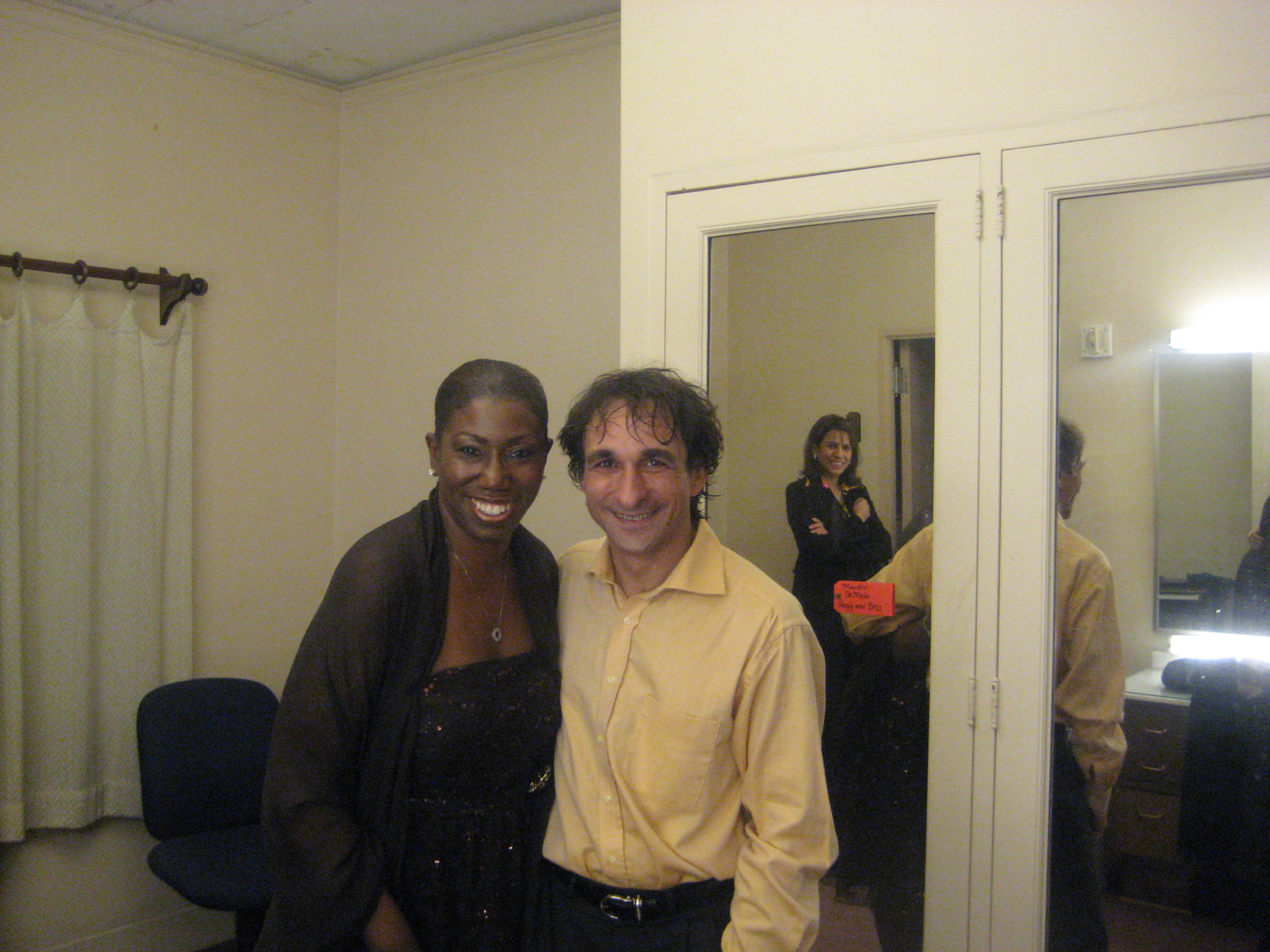 Backstage at SFO with Maestro Marco Armililato