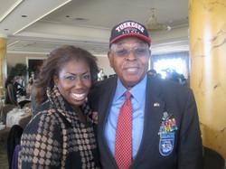 Tuskegee Airman Harold Hoskins at 100 Black Women Tea