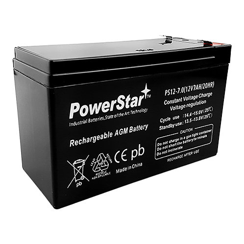 Battery, Rechargeable, 12 Volt, 7 Amp-hours