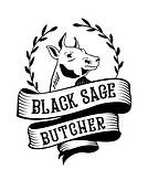 Black Sage Butcher logo on white contour