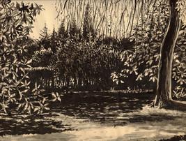encre sur papier teinté - 28 x 23