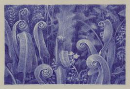 stylo bille sur velin gris - 15 x 10