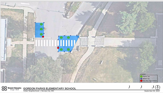 Site plan - Gordon Parks crosswalk color