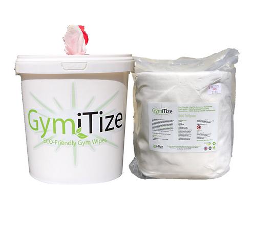 GymiTize Eco 500 Wipe Bkt + 500 Wipe Refill (1000 wipes)
