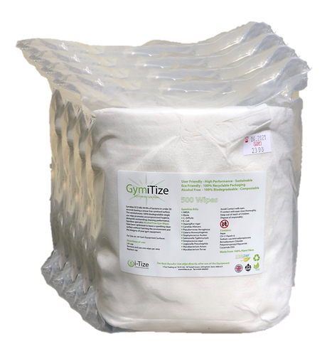 GymiTize Eco 4 X 500 Wipe Refill Rolls (2000 Wipes)