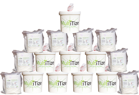 MultiTize ECO Mega Pack (8x Buckets 8x Refill Packs, 8000 wipes)