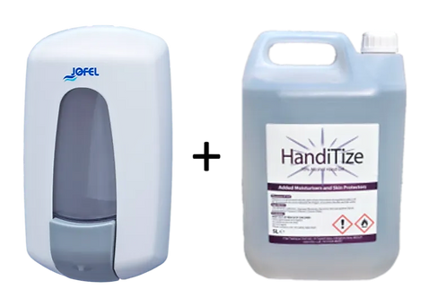 Wall Dispenser + 5 ltr HandiTize Tub