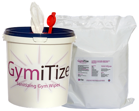 GymiTize Bucket & Refill (2000 wipes)