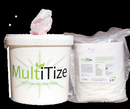 MultiTize 500 ECO Wipe Bucket + 500 Wipe Refill Roll