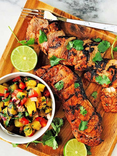 Step by Step: Grilled Pork Tenderloin with Charred Pineapple Salsa