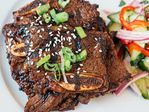 Chef Rob Filipchuk's Korean Style 'Galbi' Beef Short Ribs with Vietnamese Pickled Cucumber Salad