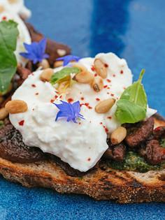 Chef Darnell Japp's Mushroom and Burrata Bruschetta