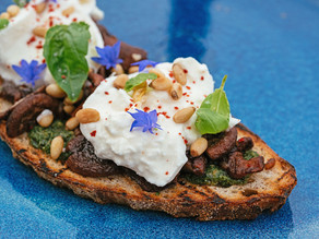 Chef Darnell Japp's Mushroom and Burrata Bruschetta