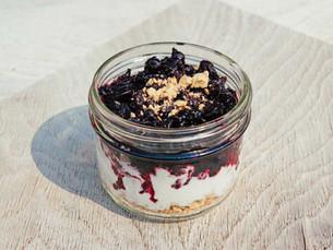 Blackcurrant Ice Cream Parfait