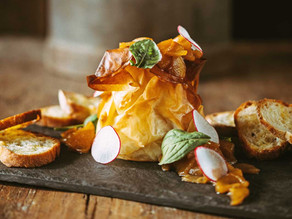 Chef Marc Bourgeois' Baked Brie with Spiced Apple Compote