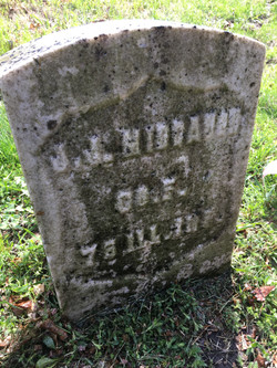 JJ Middaugh Headstone after initial cleaning with D2