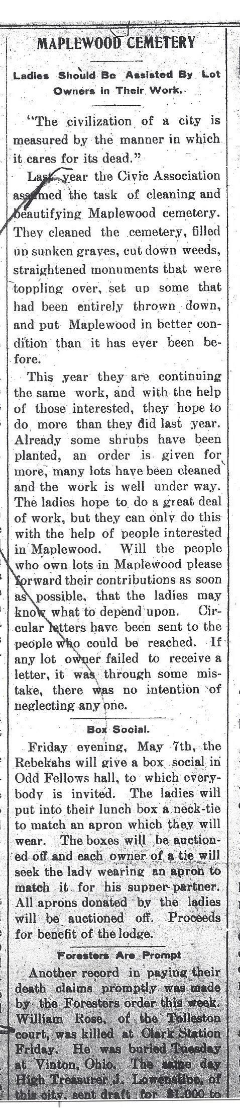 Evening Messenger May 5, 1900