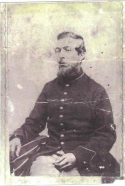 Austin Flint Civil war Photo before Atlanta Campaing with General Sherman