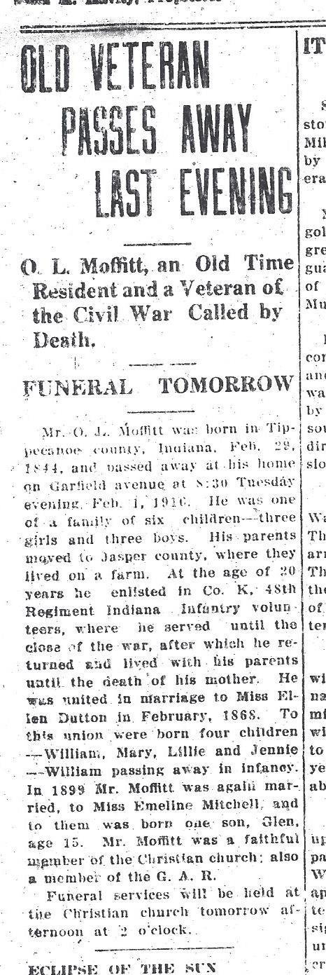 Evening Messenger Feb 2, 1916 P1C1