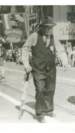 Jacob Mooker Leading a Parade