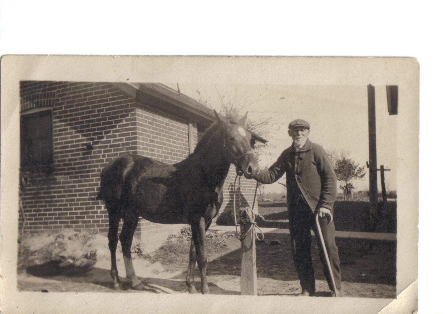 Jared Blake with Horse