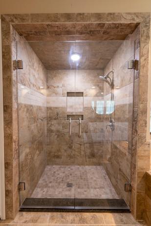 Shower Remodel After Travertino Tile
