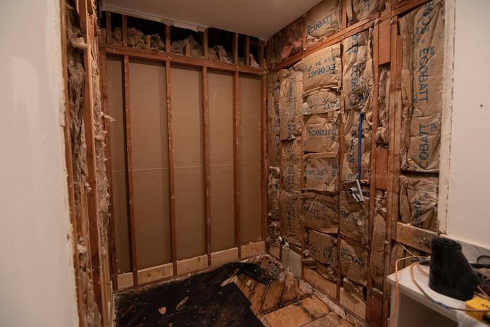 Tearing Down Bathroom Sub-walls