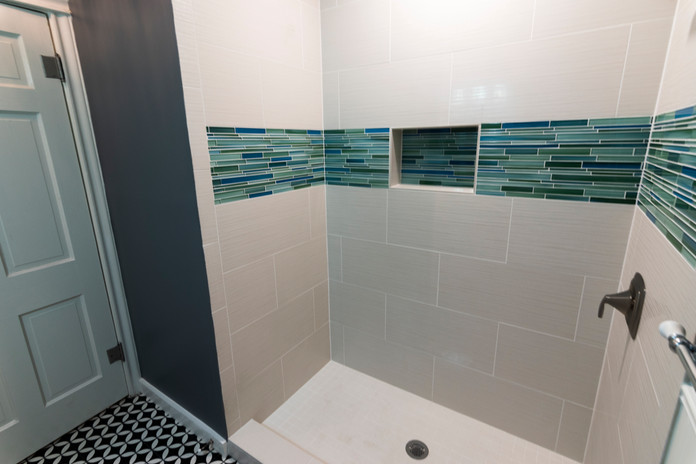 White Tile Bathroom Remodel