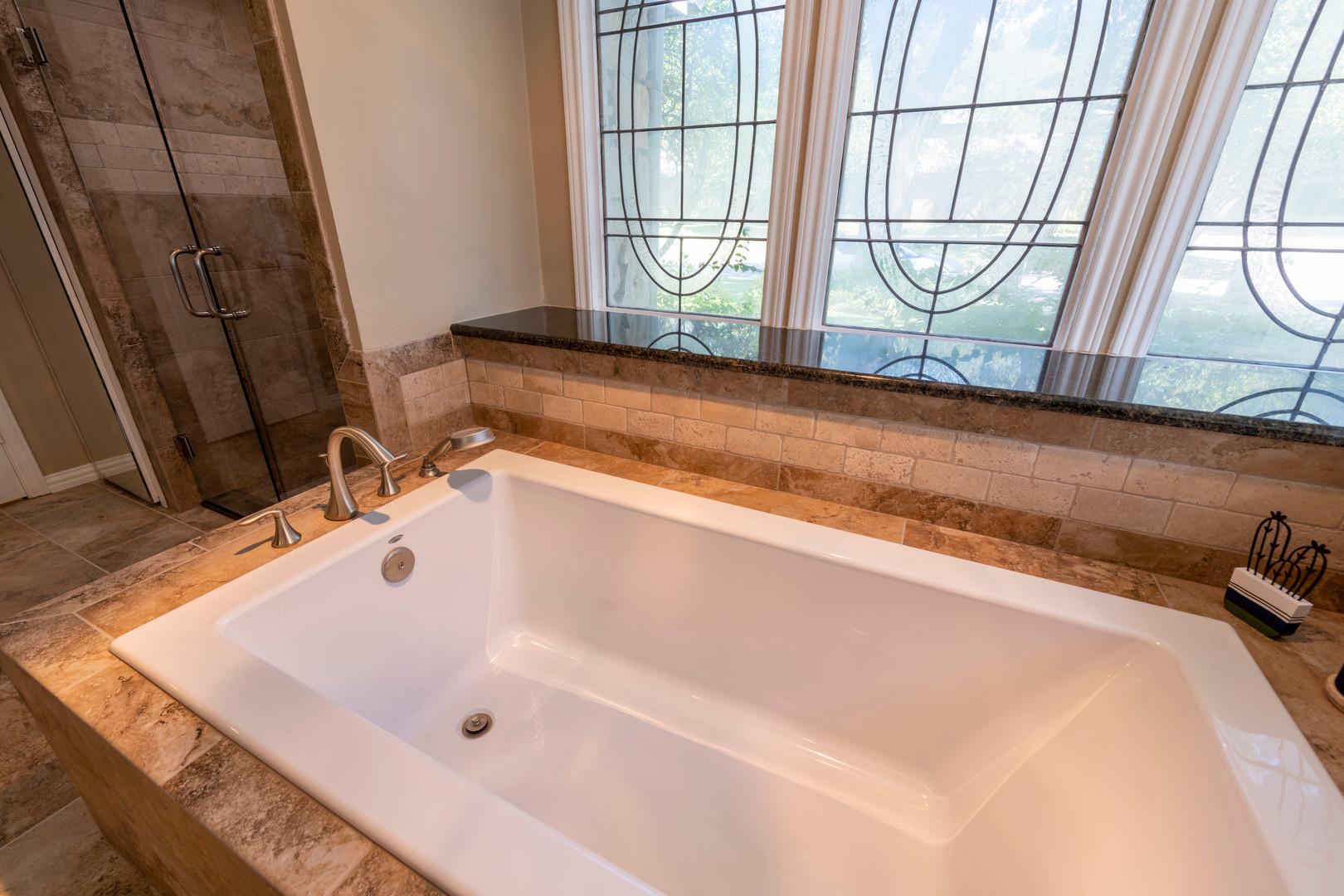 Bathtub Remodel Brown Tile