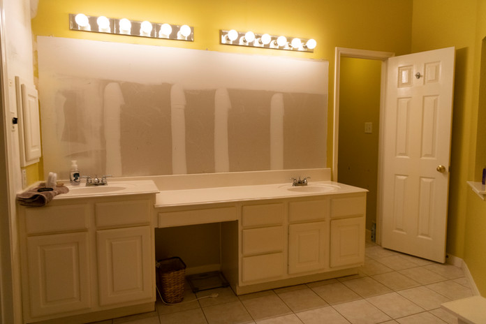 Mirrors Removed For Bathroom Remodel