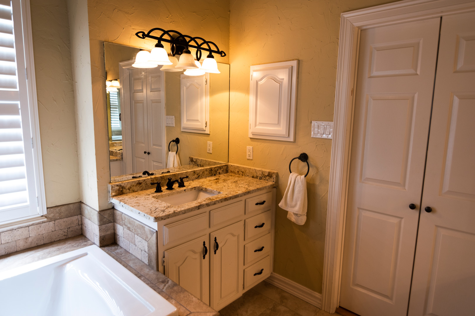 Bathroom Remodeel White Cabinets Reface