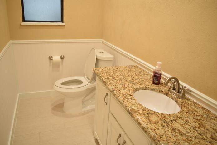 Guest Bathroom Remodel Complete with Santa Cecilia Granite