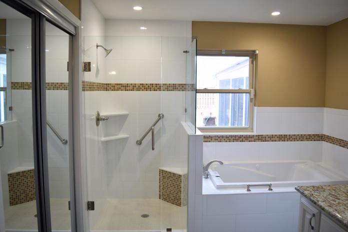 Bathroom Remodel White Shower Tile