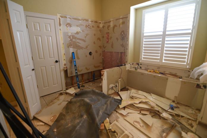 Decontruction of Bathroom Remodel