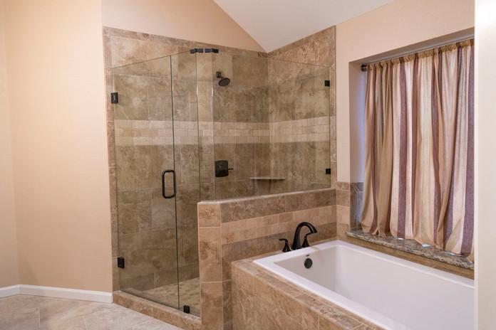 Brown Beige Shower Tile
