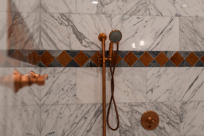 Bronze Colored Shower Appliance