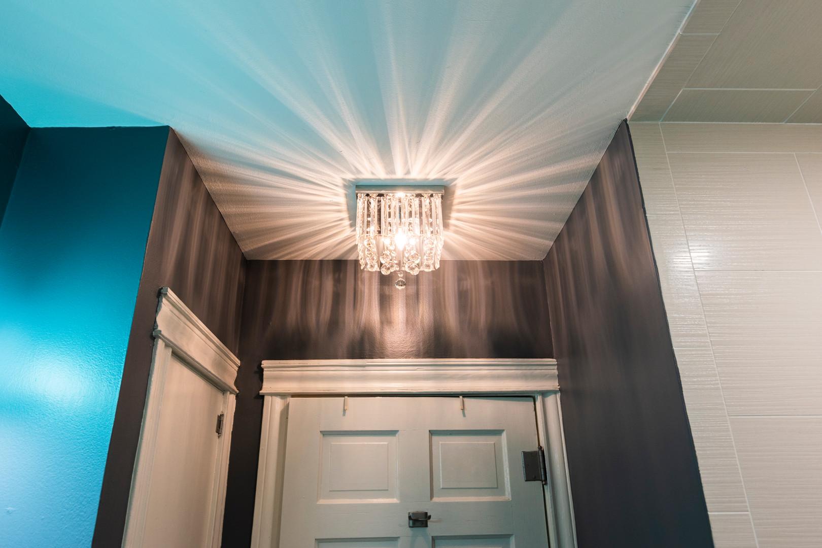 Fancy Light Bathroom Remodel