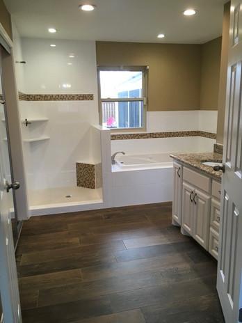 Wood Look TIle Bathroom Floor