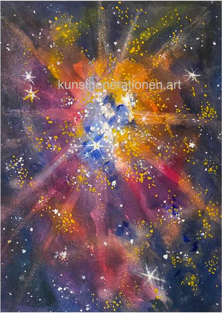 Sternenwolke2000W/C38x27 cm