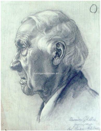 Portrait/Studie 1907 Bleistift 50x40cm