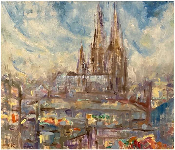 Köln1978O/C70x60 cm