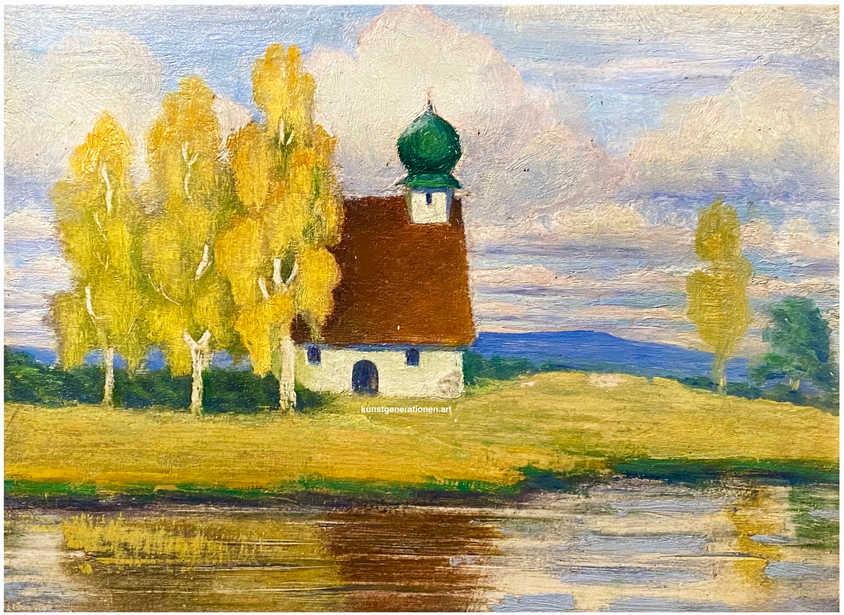 Kapelle am Moor 1909 O/C 20x15 cm