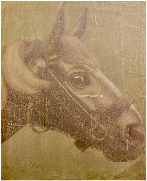 Mein Rappe 1916 Zeichnung 30x35cm