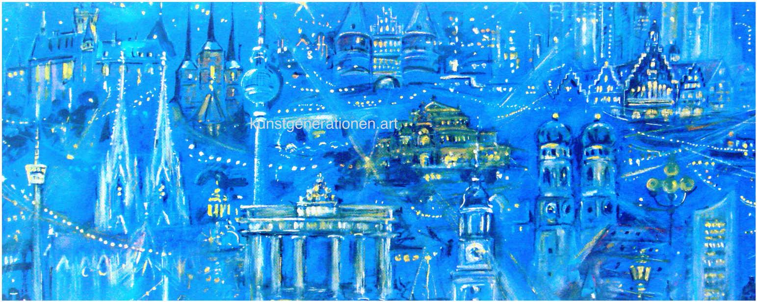 Städte im Licht2000Mischtechnik60x25 cm