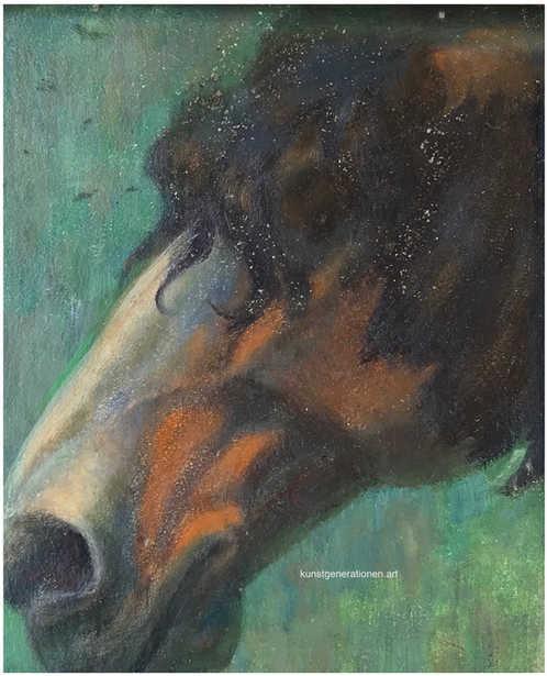 Pferdestudie 1917 O/C 24x19cm