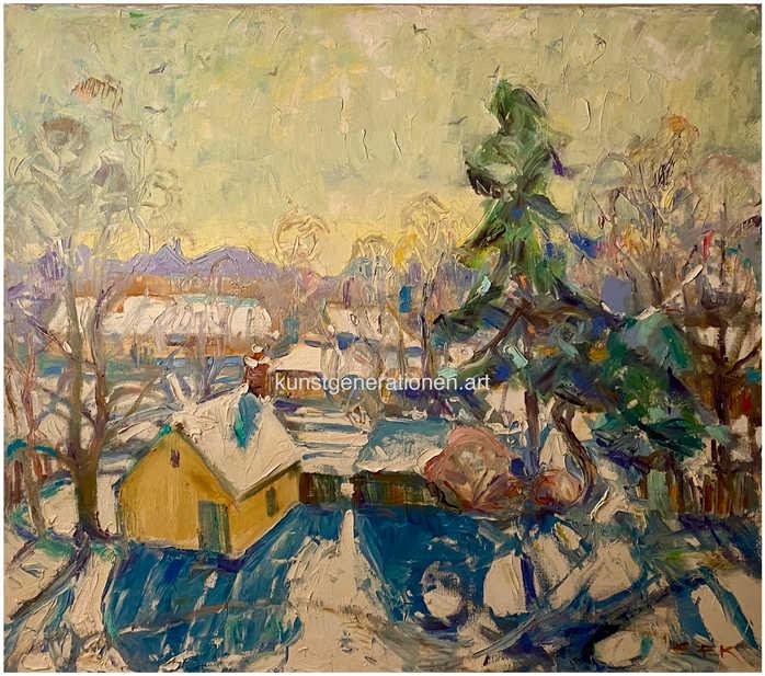 Heller Wintertag1977O/C80x70 cm