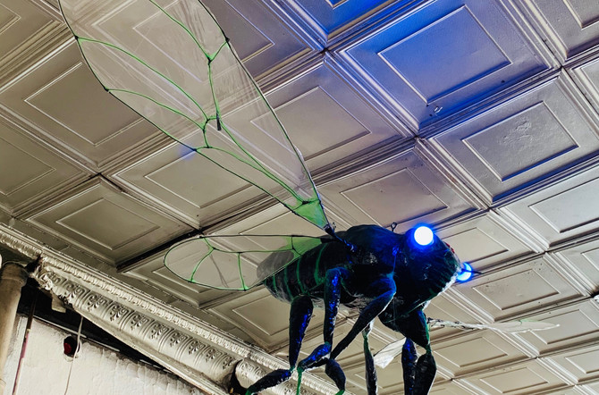 Anyone have a fly swatter_ Rad sculpture
