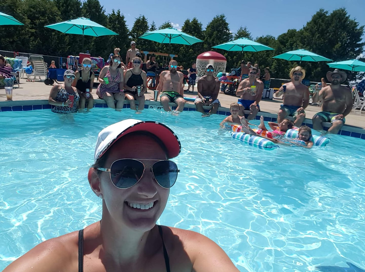 Group posed at Activity Pool 2019